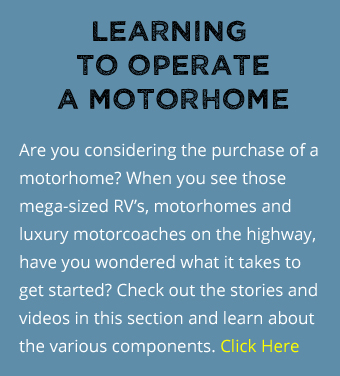 learning to operate a motorhome