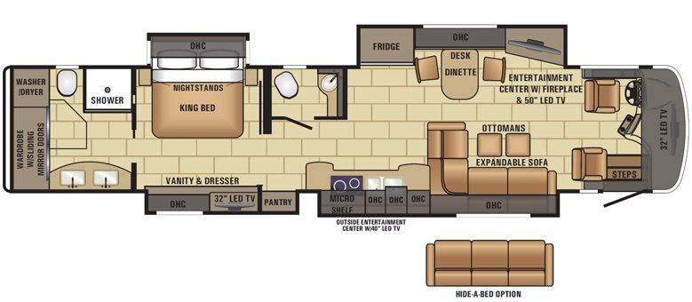 2017 Cornerstone 45B Floorplan