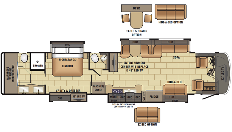 2017 Cornerstone 45K Floorplan