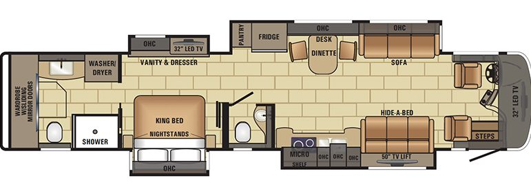 2017 Cornerstone 45W Floorplan