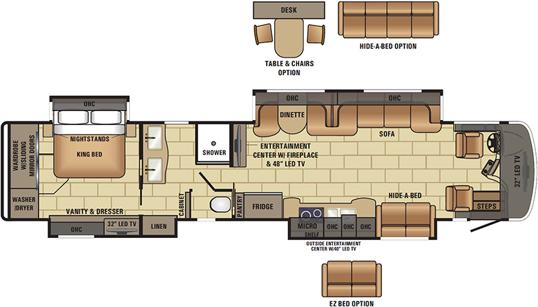 2017 Cornerstone 45J Floorplan