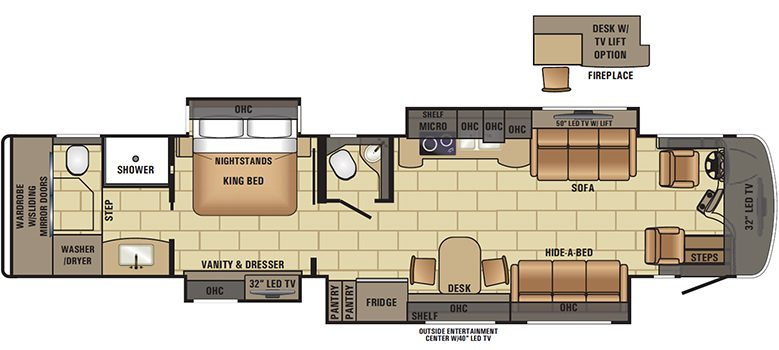 2017 Cornerstone 45A Floorplan