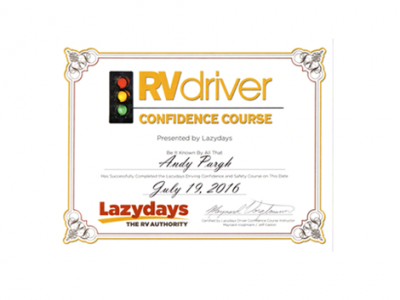Lazy Days Driver Confidence Class