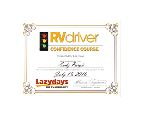 Lazy Days Driver Confidence Class