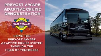 Driving A Prevost Through The Mountains With The Aware Adaptive Cruise Control